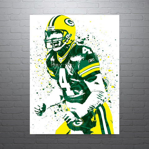 Brett Favre Green Bay Packers Poster - PixArtsy