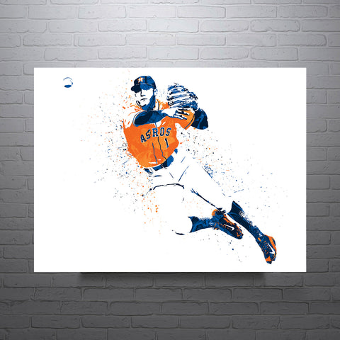 Carlos Correa Houston Astros Throwing Poster - PixArtsy