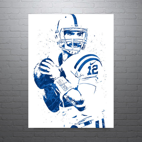 Andrew Luck Indianapolis Colts Football Poster - PixArtsy - 1