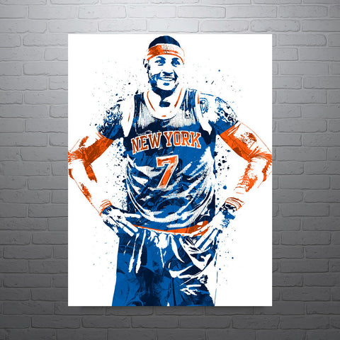 Carmelo Anthony New York Knicks Poster - PixArtsy - 1