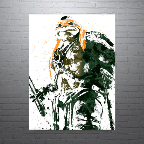 Teenage Mutant Ninja Turtle Michaelango Poster - PixArtsy