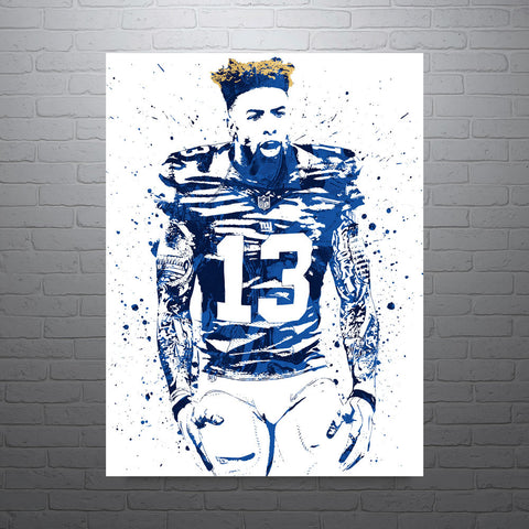 Odell Beckham Jr New York Giants Hair Poster - PixArtsy