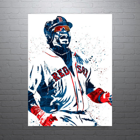 David Ortiz Boston Redsox Poster - PixArtsy