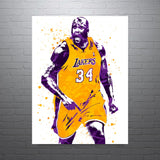 Shaquille O'Neal Los Angeles Lakers Shaq Poster - PixArtsy