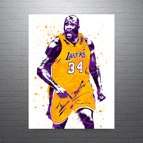 Shaquille O'Neal Los Angeles Lakers Shaq Poster - PixArtsy - 1
