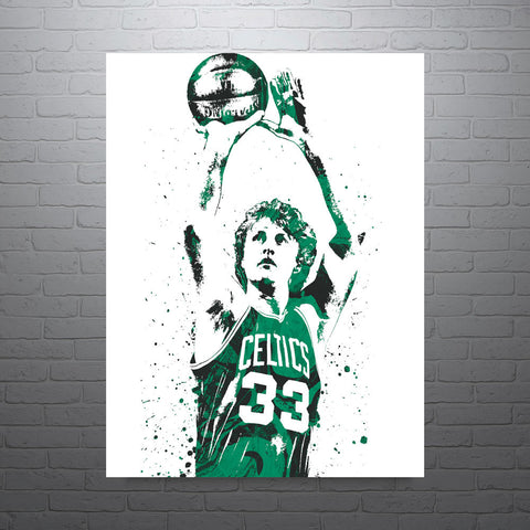 Larry Bird Boston Celtics Poster - PixArtsy