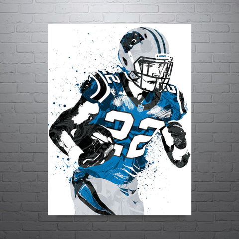 Christian McCaffrey Carolina Panthers Poster - PixArtsy