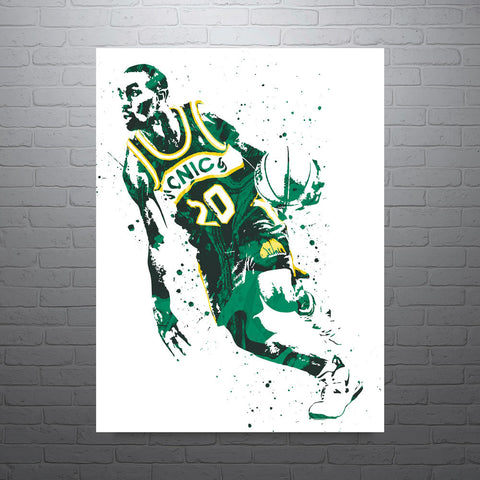 Gary Payton Seattle Supersonics Poster - PixArtsy