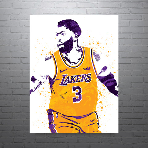 Anthony Davis Los Angeles Lakers Poster - PixArtsy