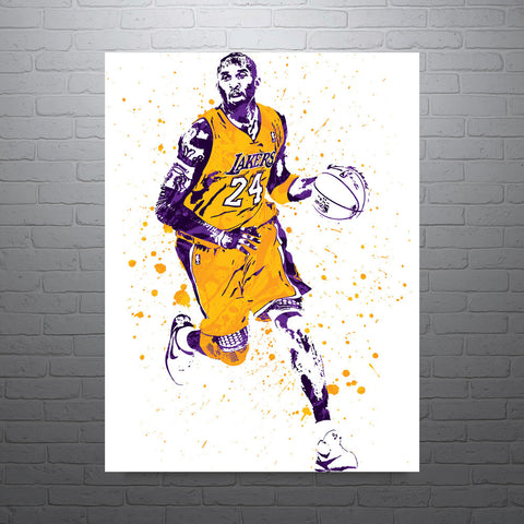Kobe Bryant Los Angeles Lakers Home Poster - PixArtsy