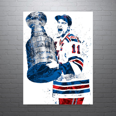 Mark Messier New York Rangers Poster - PixArtsy