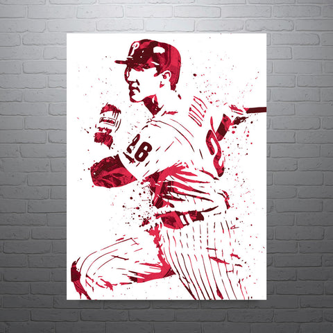Chase Utley Philadelphia Phillies Poster - PixArtsy