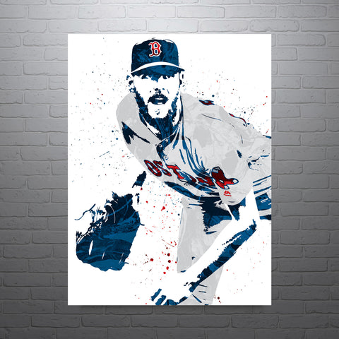 Chris Sale Boston Red Sox Poster - PixArtsy
