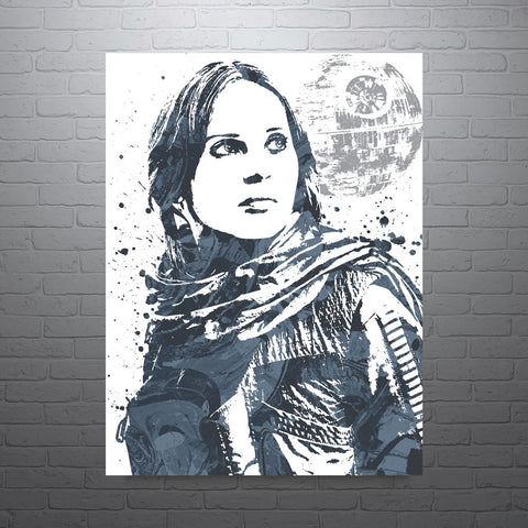 Star Wars Rogue One Jyn Erso Poster - PixArtsy