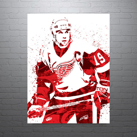 Steve Yzerman Detroit Red Wings Poster - PixArtsy