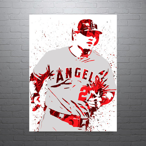 Mike Trout Los Angeles Angels of Anahiem Poster - PixArtsy