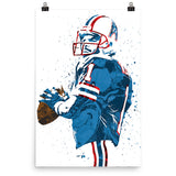 Warren Moon Houston Oilers Poster - PixArtsy