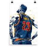 LeBron James Cleveland Cavaliers Jersey Poster - PixArtsy