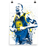 Kevin Durant Golden State Warriors Away Blue Poster - PixArtsy