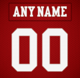 San Francisco 49ers Jersey Poster - Print Personalized Select ANY Name & ANY Number - PixArtsy