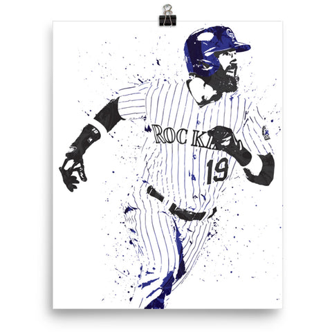 Charlie Blackmon Colorado Rockies Poster - PixArtsy