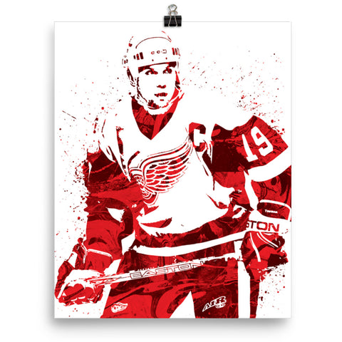 Custom Steve Yzerman Detroit Red Wings Poster Pixartsy