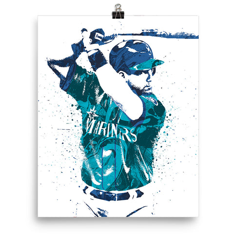 Edgar Martinez Seattle Mariners Poster - PixArtsy