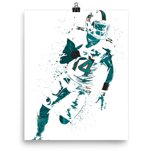 Jarvis Landry Miami Dolphins Poster - PixArtsy