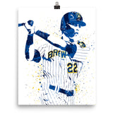Christian Yelich Milwaukee Brewers Poster - PixArtsy