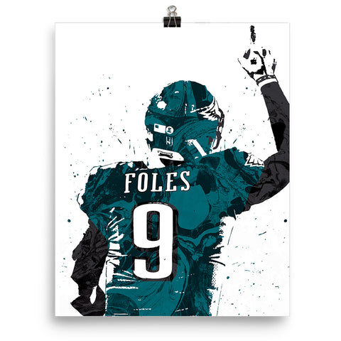 on sale 9264f b57f9 Nick Foles Jersey Philadelphia Eagles Poster