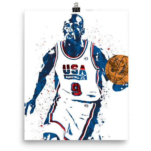 Michael Jordan Dream Team USA Poster - PixArtsy