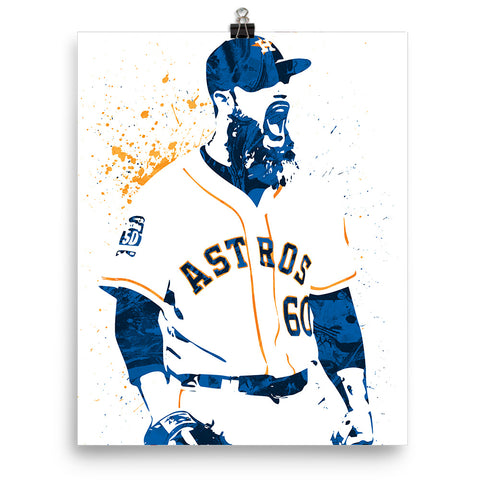 Dallas Keuchel Houston Astros Poster - PixArtsy