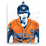 Alex Bregman Scream Houston Astros Poster - PixArtsy