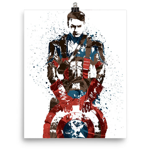 Civil War Captain America Poster - PixArtsy