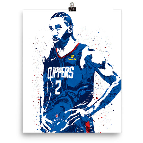 Kawhi Leonard Los Angeles Clippers Poster - PixArtsy