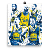 Golden State Warriors Big Four Poster - PixArtsy