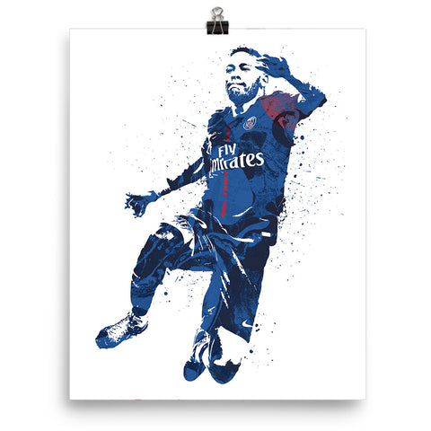 Neymar Jr Paris Saint-Germain PSG Poster - PixArtsy