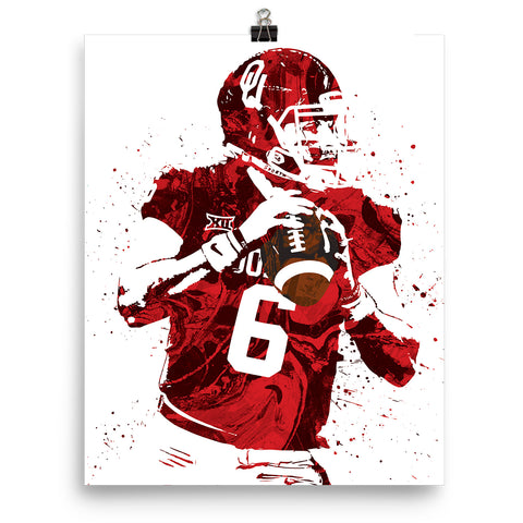 on sale c8b5f fe8b6 Baker Mayfield Oklahoma Sooners Poster