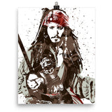 Jack Sparrow Pirates of the Caribbean Disney Movie Poster - PixArtsy