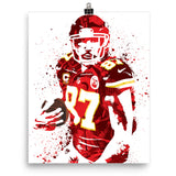 Travis Kelce Kansas City Chiefs Poster - PixArtsy