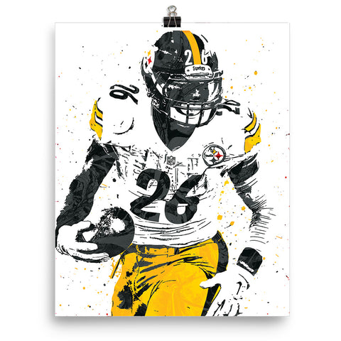 3d2b6e31ab8 Custom Le'Veon Bell Pittsburgh Steelers Poster | PixArtsy