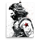 Civil War Winter Soldier Poster - PixArtsy