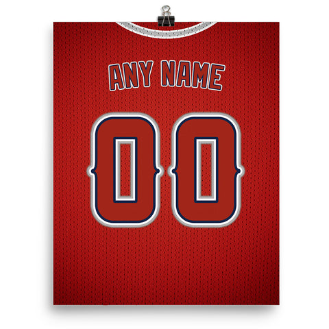 Los Angeles Angels Jersey Poster - Print Personalized Select ANY Name & ANY Number - PixArtsy