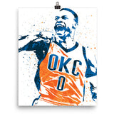 Russell Westbrook Oklahoma City Thunder Poster - PixArtsy