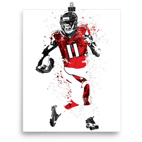 Julio Jones Atlanta Falcons Football Poster - PixArtsy