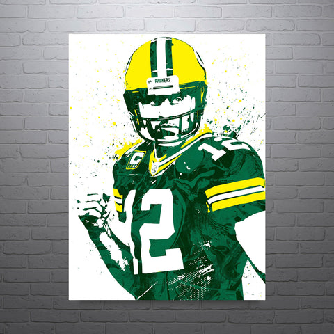 Aaron Rodgers Green Bay Packers Poster - PixArtsy