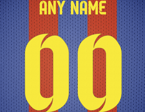 5a6ba3c76 ... FC Barcelona Soccer Jersey Poster - Print Personalized Select ANY Name  & ANY Number - PixArtsy