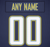 Los Angeles Chargers Jersey Poster - Print Personalized Select ANY Name & ANY Number - PixArtsy