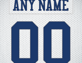 Dallas Cowboys White Jersey Poster - Print Personalized Select ANY Name & ANY Number - PixArtsy