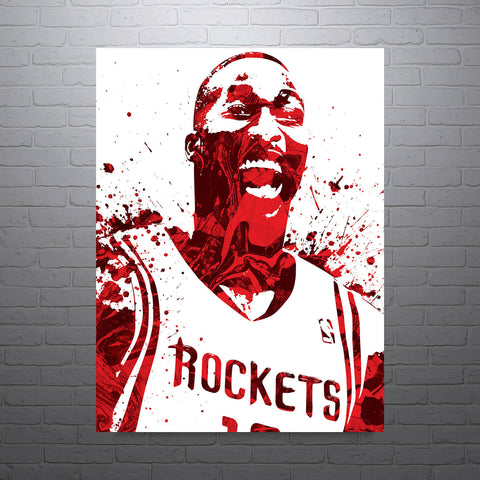 Dwight Howard Houston Rockets Poster - PixArtsy